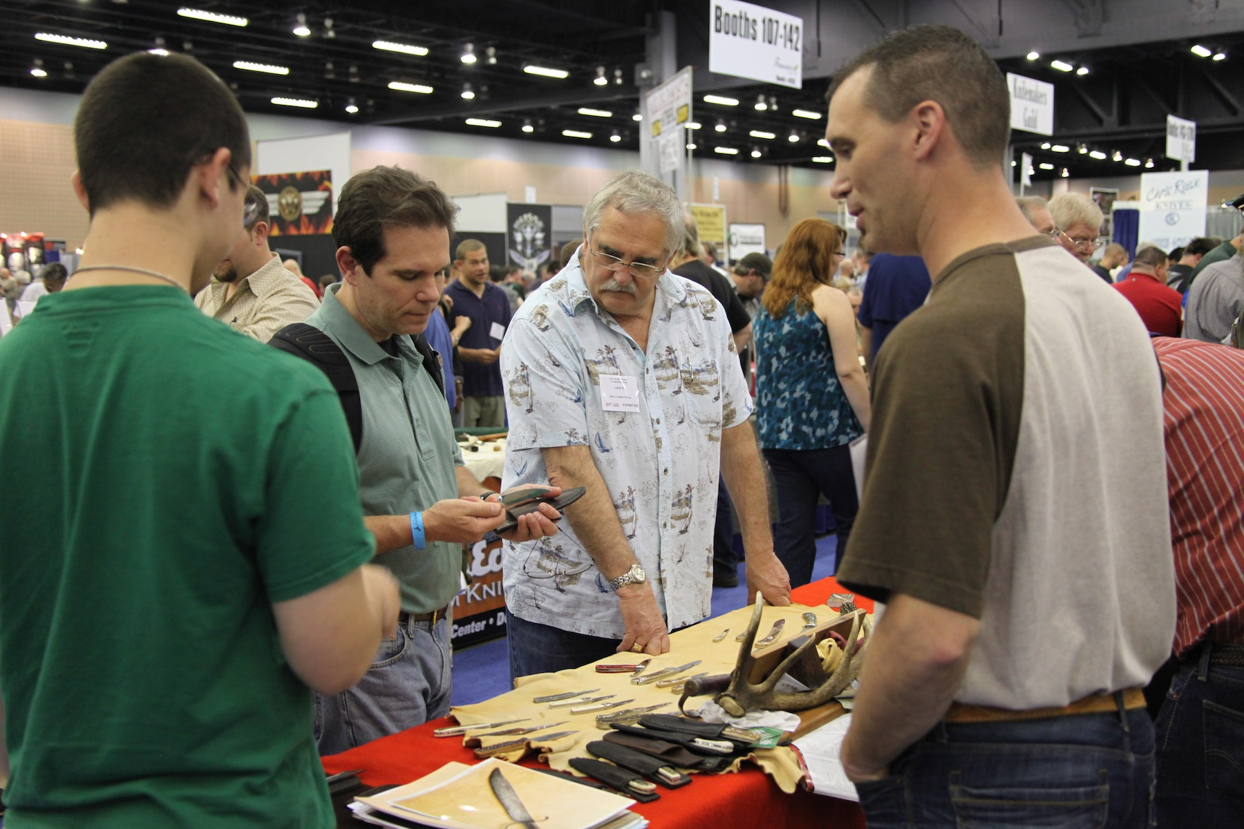 DO ask a maker's permission before picking up a knife from his table at a knife show.